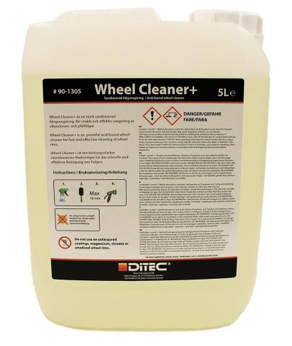 Ditec Wheel Cleaner +, fälgrengöring med syra, 5 liter.