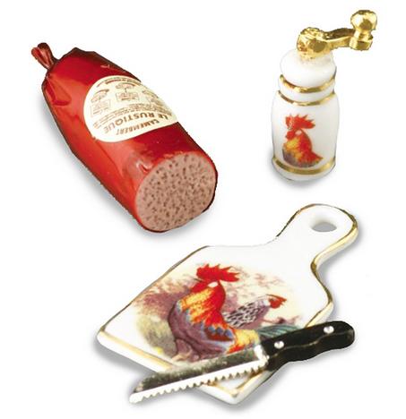 Mat kniv skärbräda pepparkvarn