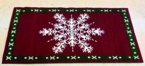 Julmatta snöflinga jul  11 x 16 cm