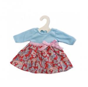 Dockkläder klänning blå röd stl 30 cm