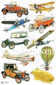 Bokmärken bilar flyg båtar 3