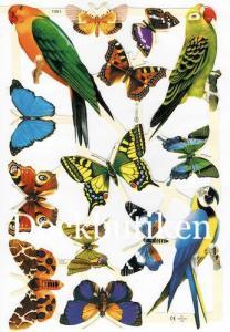 Bokmärken Fjäril papegoja 1