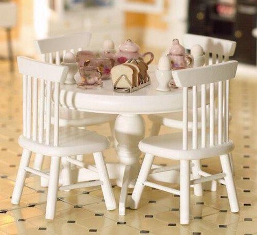 Bord köksbord stolar vita