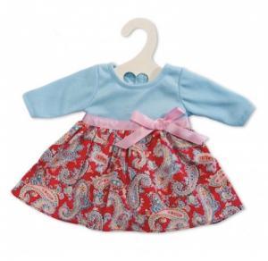 Dockkläder klänning blå röd stl 40 cm