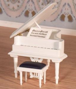 Flygel vit piano