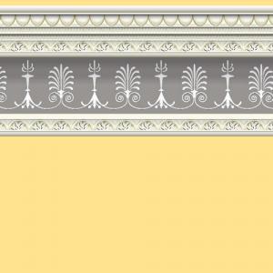 Tapet gul ockra med stuckatur