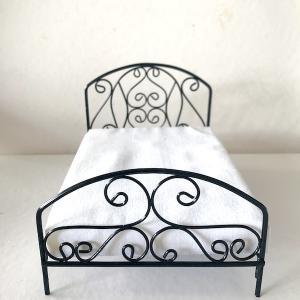 Dubbelsäng säng svart järn