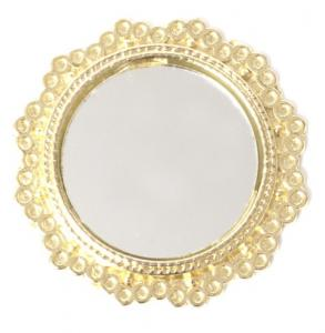 Spegel rund guldfärgad