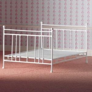 Dubbelsäng säng vit järnsäng