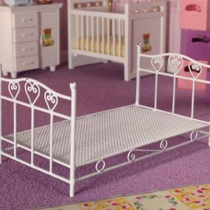 Säng enkelsäng vit metall