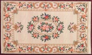 Matta Elegance med blommönster ca 10x17 cm