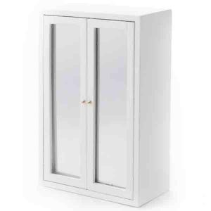 Garderob spegeldörrar vit