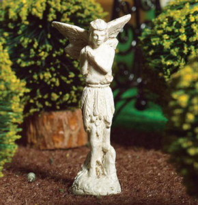 Skulptur staty älva trädgårdsprydnad