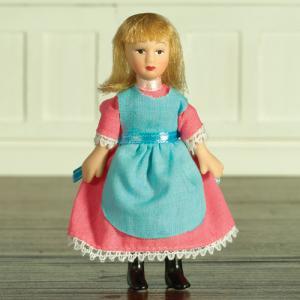 Barn flicka Delphia i rosa klänning