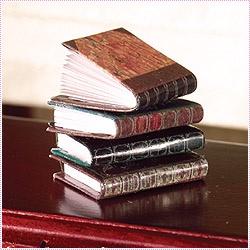 4 st inbundna böcker, bläddringsbara riktiga sidor
