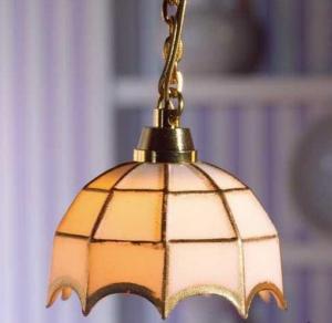 Lampa taklampa Tiffany vit EL