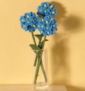 Blomma hortensia blå 3 st