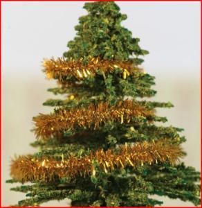 Glitter guld t julgran