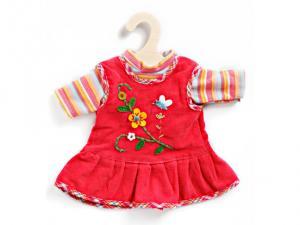 Dockkläder Klänning docka hallonröd ljusröd röd