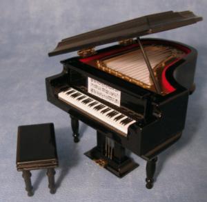 Flygel svart baby grand piano