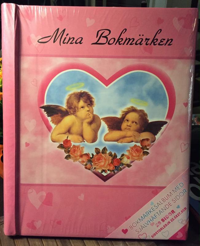 Album bokmärken stort rosa