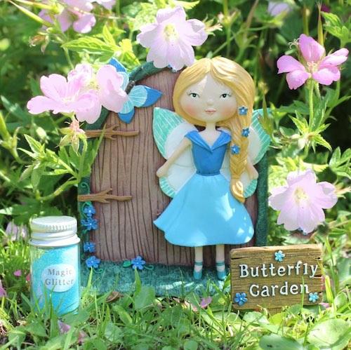 Amelia fjärilsträdgård dörr