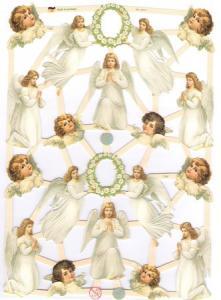 Bokmärken barn änglar krans