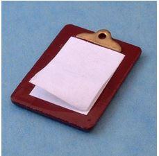 Anteckningsblock, clipboard m papper