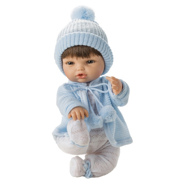 Docka baby blue brunt hår