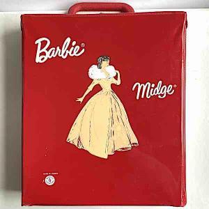 Barbie väska garderob m galgar röd