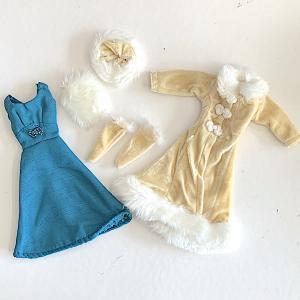 Barbie klänning kappa set