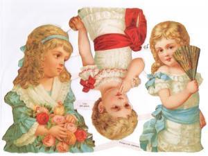 Bokmärken barn flickor retro