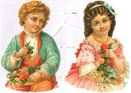 Bokmärken 2 barn retro1