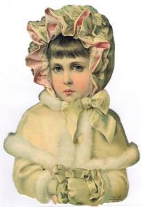 Bokmärken barn flicka retro