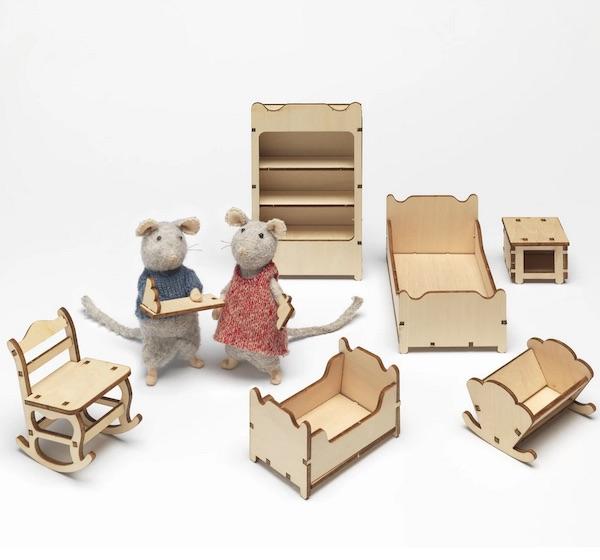 Mus SOVRUM BARNRUM Mouse Mansion set