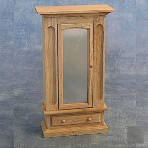 Garderob linneskåp spegel trä