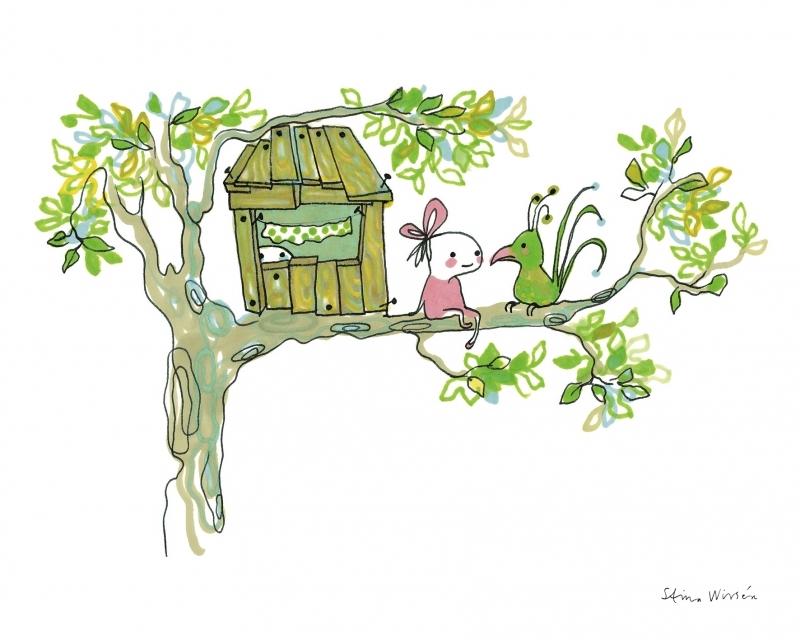 Bild poster Trädkoja treehouse 24x30 cm