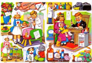 Bokmärken Barn Leka doktor