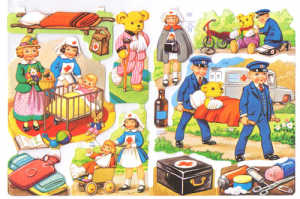 Bokmärken Barn nalle-sjukhus 101