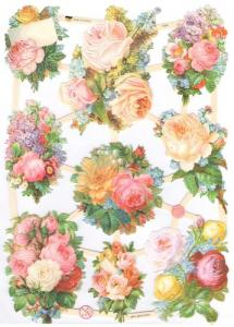 Bokmärken blommande retro02