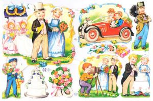 Bokmärken Brudpar 118 bröllop