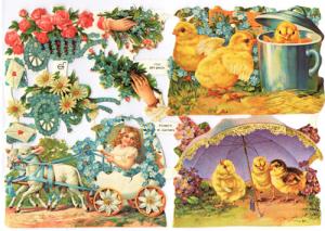 Bokmärken Påsk 132 kycklingar