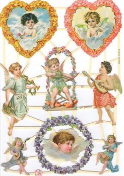 Bokmärken änglar retro10