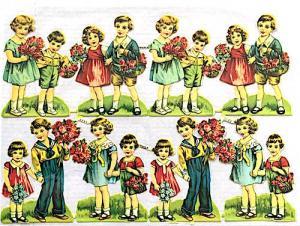 Bokmärken barn m blommor