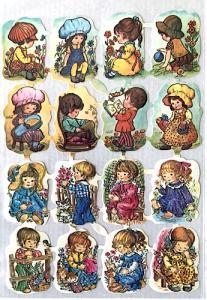 Bokmärken barn i mössor retro 60-70-tal