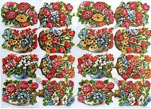 Bokmärken blommor i korgar retro 60-70-tal