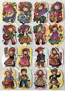 Bokmärken clown barn retro 60-70-tal