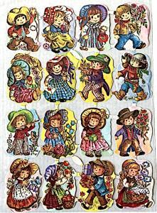 Bokmärken barn cowboy retro 60-70-tal