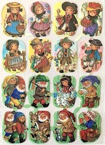 Bokmärken flickor pojkar retro 60-70-tal