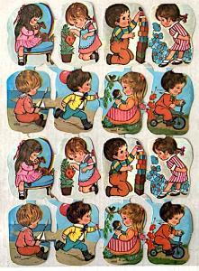 Bokmärken flickor pojkar retro 60-70-tal 2
